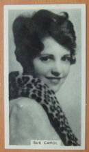 Sue Carol, Cigarette Card, Godfrey Phillips, Cinema Stars, 1930 card #2